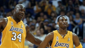 O'Neal and Bryant helped the Lakers win three straight championships from 2000 to 2002