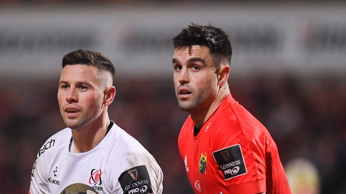 John Cooney (L) and Conor Murray are vying for the number nine jersey