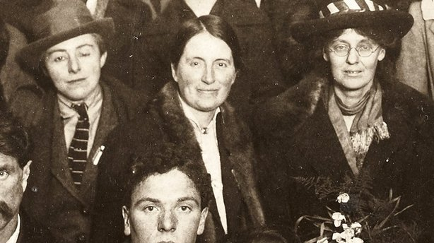 Dr Kathleen Lynn (centre) with Madeleine ffrench-Mullen (left) and Constance Markievicz taken in 1919 Photo: National Library of Ireland, NPA POLF202
