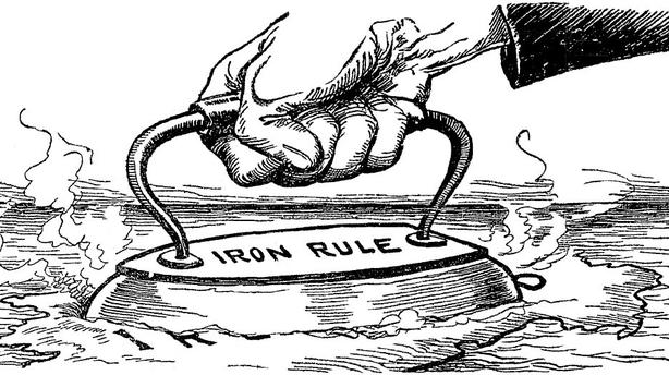 Cartoon on the nature of the British government's behaviour towards Ireland Photo: Sunday Independent, 1 February 1920