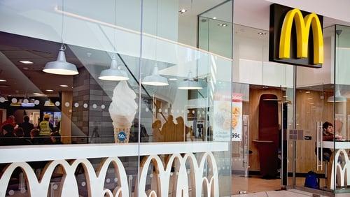 McDonald's has 95 restaurants across Ireland