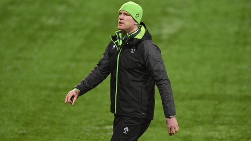 Paul O'Connell during his time as assistant coach with the Ireland U20s during the 2018 Six Nations