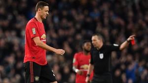 Nemanja Matic sees red for United