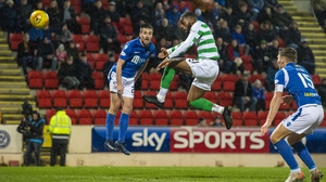 Olivier Ntcham was on target with a header against St Johnstone