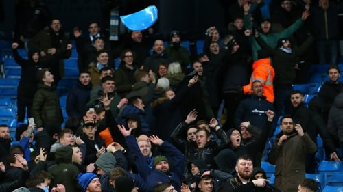 Tensions ran high between both sets of supporters at the Etihad.