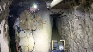 The tunnel under the US-Mexico border was big enough to walk through
