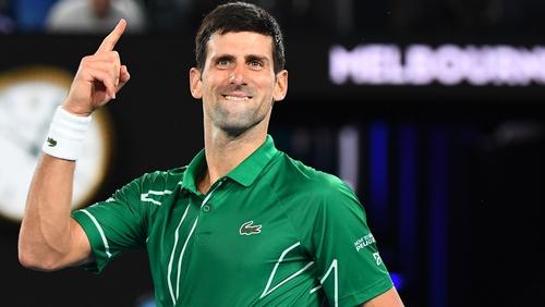 Novak Djokovic was too strong for Roger Federer