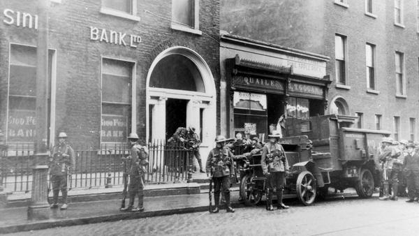 The 1919 British raid on Sinn Féin headquarters in Harcourt Street, Dublin. This image is reproduced with the kind permission of The National Museum of Ireland.