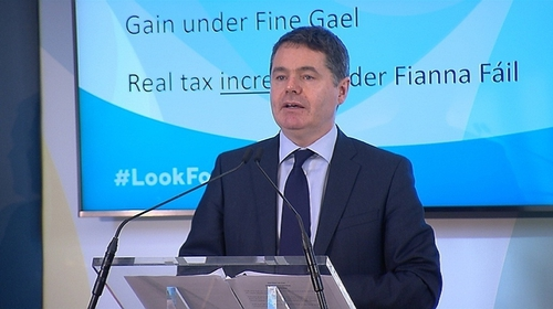 Fine Gael's Paschal Donohoe criticised the spending and tax plans of Fianna Fáil and Sinn Féin
