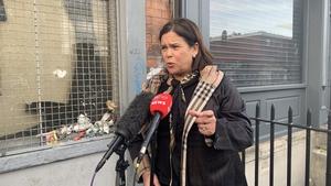 Mary Lou McDonald rejected the Fianna Fáil leader's comments that Sinn Féin was anti-EU