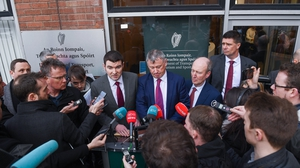 The announcement of the rescue package was made outside the Department of Sport