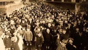 A 1924 children's party at Rutland Street National School, Dublin. Photo: National Library of Ireland