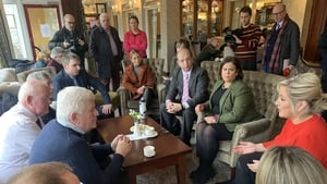 Sinn Féin leader Mary Lou McDonald met members of Border Communities Against Brexit ahead of Britain's official departure from the EU