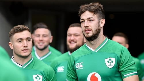 Caelan Doris features among the Ireland replacement