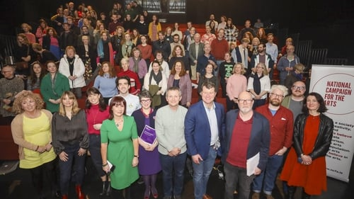The NCFA (National Campaign for the Arts) invited Election candidates to present their Arts Policy to a full house of Artists and Arts professionals, in Project Arts Centre, Dublin (Photo: Allen Kiely)