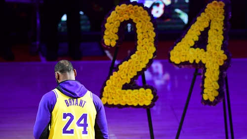 Shadow of Kobe Bryant hangs over first Lakers game since his death