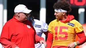 Kansas City Chiefs head coach Andy Reid and quarterback Patrick Mahomes ahead of the Super Bowl against the 49ers