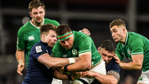 CJ Stander was to the fore as Ireland shut out the Scottish attack to grind out a victory