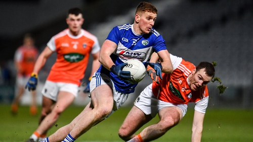 Laois's Evan O'Carroll struck 0-03 as the hosts powered to victory over Armagh