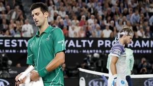 Novak Djokovic beat Dominic Thiem in the 2020 final in Melbourne