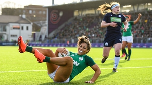 Sene Naoupu scored Ireland's second try