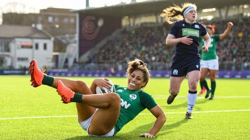Sene Naoupu scored Ireland's second try