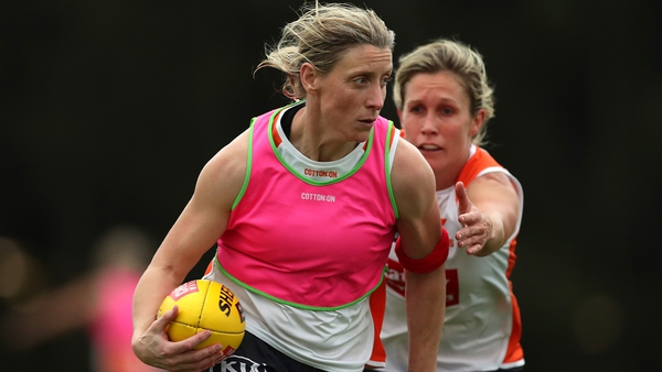 Back in training: Staunton has declared herself fit for the opening weekend of the AFLW season