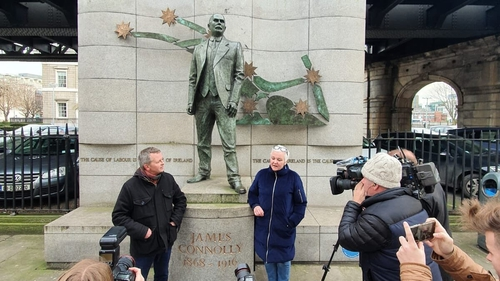 People Before Profit said the location of its launch at the James Connolly Memorial Statue was chosen because 'the renowned socialist stood for the rights and advancement of working people""