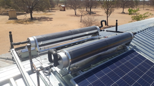 Part of the SolaFin2Go project installation in Jamataka in Botswana