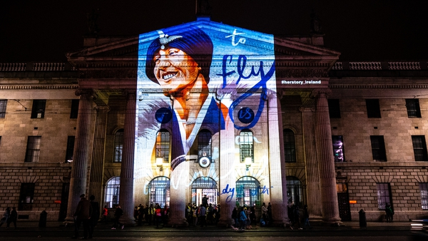 Lady Mary Heath by Lauren O' Neill illuminating the GPO