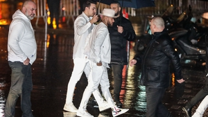 Neymar held a 'white' themed party in Paris on Sunday