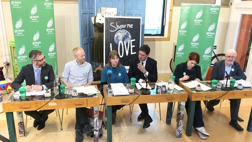 The Green Party launching its climate policy in Dublin