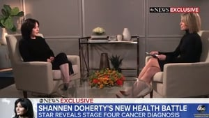 """Shannen Doherty - """"I want people to know from me; I just didn't want them to know yet"""" Screengrab: ABC News"""