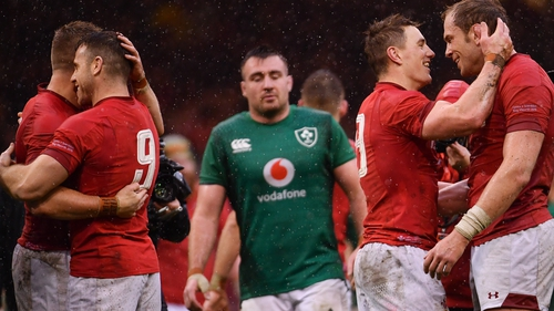 Wales beat Ireland 25-7 to win the Grand Slam last March