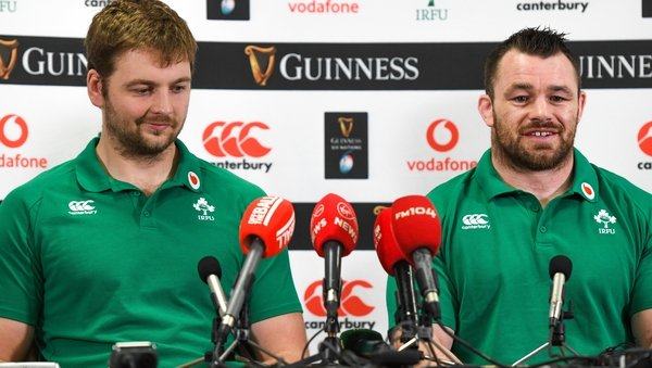 Iain Henderson and Cian Healy were in good form during Tuesday's press conference