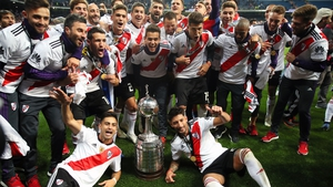 River Plate won the trophy in Madrid after the second leg was postponed