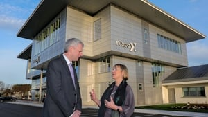 Fexco CEO Denis McCarthy and CEO of Enterprise Ireland Julie Sinnamon at the official opening of Fexco's new hub in Co Kerry