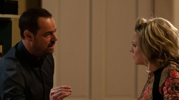Linda confronts Mick in Eastenders