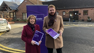 Róisín Shortall and Gary Gannon of the Social Democrats, launching the party's housing proposals for older people
