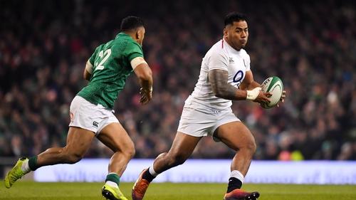 Manu Tuilagi in action against Ireland