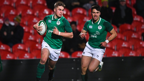 Jack Crowley of Cork Con and Munster enjoyed an outstanding game against Scotland on his Under-20 debut