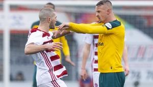 Celtic's Leigh Griffiths shoves Hamilton's Alex Gogic
