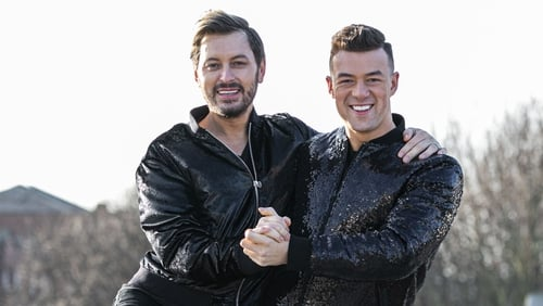 Brian Dowling and Kai Widdrington will be dancing the Quickstep to Take That's Out of Our Heads Photo: Kyran O'Brien