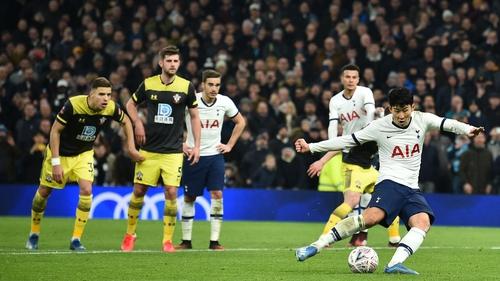 Son Heung Min netted Spurs' winner from the spot