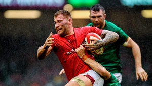 Ross Moriarty in action against Ireland during Wales' 2019 victory in Cardiff