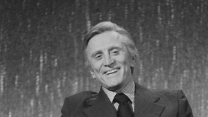 Actor Kirk Douglas on the set of the BBC television chat show Parkinson in 1979