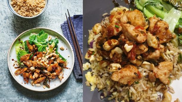 Left, Pinnock's kung pao chicken, right, Lauren's version (Hamlyn/Faith Mason/Lauren Taylor/PA)