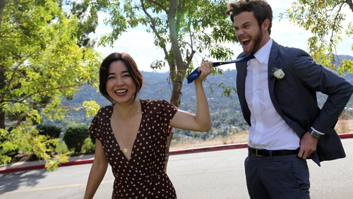 The scene-stealing Maya Erskine and Hunger Games alumnus Jack Quaid play Alice and Ben; friends since college trying to brave their way through wedding season