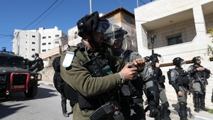 Israeli troops raid Palestinian town in Bethlehem after 16 of their soldiers were hurt in a surge of violence