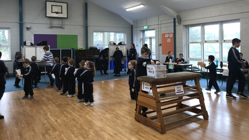 The mock election gave the pupils the opportunity to experience how an election works in real life